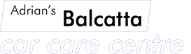 adrian's balcatta car care centre logo in white on black background