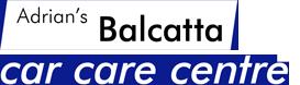 adrian's balcatta car care centre logo in white on black background