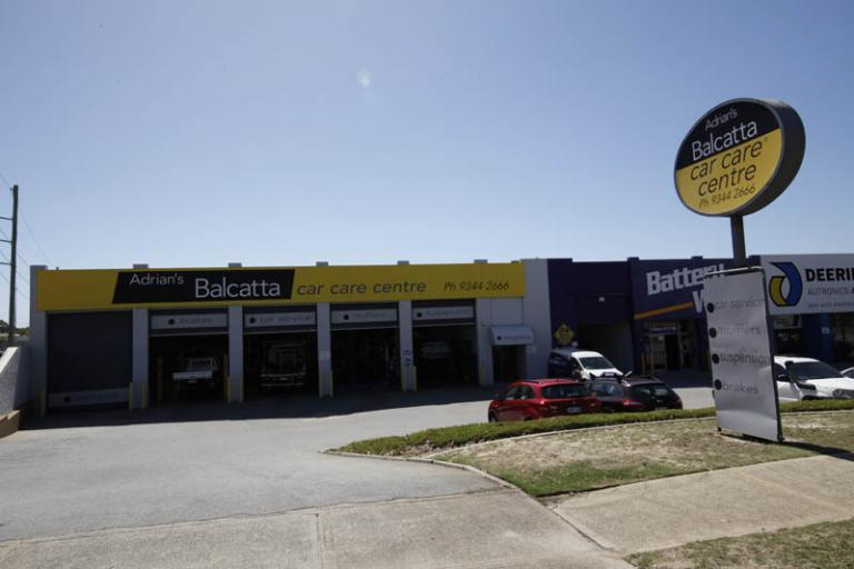 front view of adrian's balcatta car care centre at 120 erindale rd balcatta wa 6021 australia