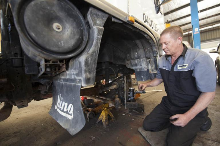 car service repair of brake hydraulics